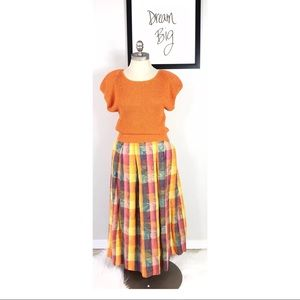 Vintage Christian Dior 2 Piece Pleated Skirt